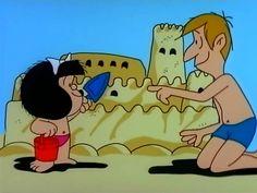 Mafalda en la playa