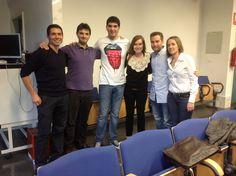 Foto de grupo antes de la presentación de algunos proyectos finales de la  III Edición del Master en Dirección de Marketing y Comunicación Empresarial UPV (MACOM)