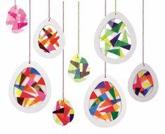 Kaleidoskop-Eier day crafts for kids preschool Pergament-Eier Valentine's Day Crafts For Kids, Diy For Kids, Diy And Crafts, Valentines Bricolage, Valentine Day Crafts, Easter Art, Easter Crafts, Craft Activities, Preschool Crafts