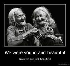 Laughing Old Women