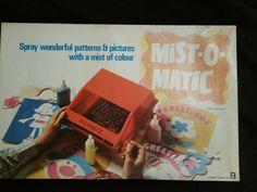 Mist-O-Matic 1970 UNUSED Spray Pattern Toy Spirograph Style by Denys Fisher Spirograph, Pattern Pictures, Mists, Childhood Memories, Fisher, Basement, Toys, Painting, Vintage