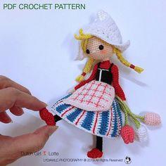 46 Super Ideas For Crochet Amigurumi Doll Pattern English Dutch Crochet Doll Pattern, Crochet Toys Patterns, Amigurumi Patterns, Amigurumi Doll, Crochet Dolls, Doll Patterns, Crochet Yarn, Crochet Baby Hats, Lana