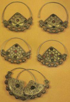 Earings. Yomud. Turkmen.