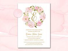 Bridal Shower Invitation Printable by LittleSparkCreations on Etsy