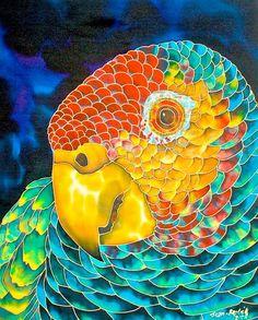 jean-baptiste.com, Hand Painted silk art, st. lucia / canadat