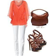 A fashion look from March 2012 featuring Matthew Williamson tops, 7 For All Mankind jeans and Diba sandals. Browse and shop related looks.