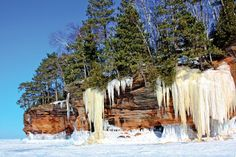 Lake Superior Ice Caves: Bayfield, WI-Apostle Islands. I was there!