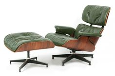 Rare Green Leather Eames Herman Miller 670 Lounge Chair | red modern furniture. http://redmodernfurniture.com