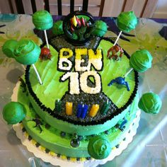 Ben 10 party for my sons 5th birthday! Cake turned out great!