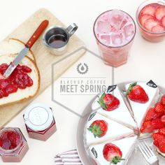 Spring, strawberry, girl  blackupcoffee.com