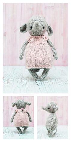 Amigurumi The Friendly Elephant Free Pattern – Free Amigurumi Patterns One 7, Last Stitch, Magic Circle, Yarn Over, Slip Stitch, Amigurumi Patterns, Free Pattern, Elephant, Weaving
