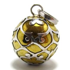 Details about sterling silver harmony ball pendant chime bell 925 sterling silver harmony ball pendant angel caller charm brass baby bell new charm aloadofball Gallery