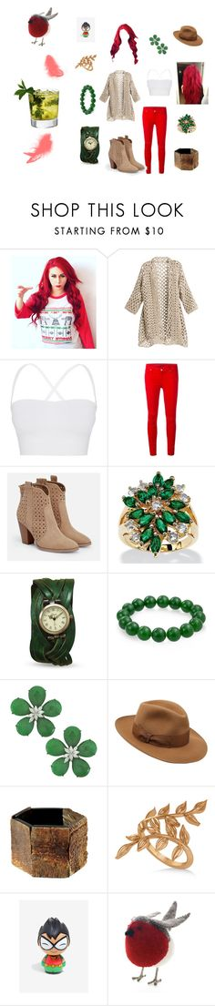 """""""Robin,Going Out"""" by llallharona on Polyvore featuring Theory, 7 For All Mankind, JustFab, Something Strong, Palm Beach Jewelry, Bling Jewelry, Siman Tu, Borsalino, Allurez and Fiona Walker"""