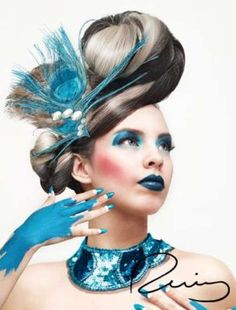 amazing hair and turquoise. how avant garde