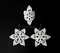 Mirtusz : JÉGVIRÁG - ékszerek Crochet Earrings, Jewelry, Jewlery, Jewerly, Schmuck, Jewels, Jewelery, Fine Jewelry, Jewel
