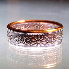 Beautiful Japanese 1 Sen Coin Ring by ArtifactCoinRings on Etsy Diy Clothes Accessories, Coin Ring, Cuff Bracelets, Unique Jewelry, Jewelry Ideas, Coins, Give It To Me, Trending Outfits, Handmade Gifts