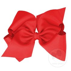 Who doesn't love big bows! This classic Grosgrain Hair Bow is a southern staple. Comes in tons of colors and sizes! Available at Little Soles, 205.970.6990