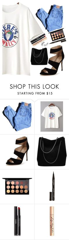 """""""Untitled #181"""" by nikki5673 ❤ liked on Polyvore featuring Levi's, Carvela, Gucci, MAC Cosmetics, Smith & Cult, Chanel, Charlotte Tilbury and Trish McEvoy"""