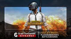 Enter for a chance to win 1 out 5 PLAYERUNKNOWN'S BATTLEGROUNDS Steam Keys