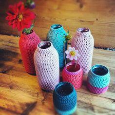 Chrochet vases www.knappaschneider.nl