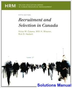 Download solution manual for management information systems solutions manual for recruitment and selection in canada canadian 5th edition by catano fandeluxe Images