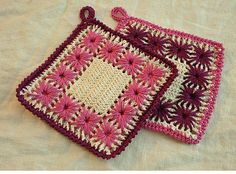 Wonderful Yarn Crochet Eyelet Embroidery Rug Pattern
