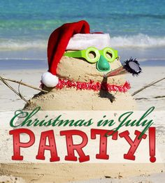 Lots of tips and suggestions (menus, decorating, activities, etc.) for hosting your own Christmas In July party! {'Tis The Season}