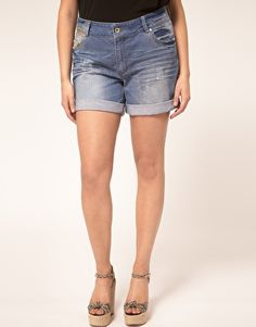 ASOS CURVE Exclusive Denim Short  $40.55