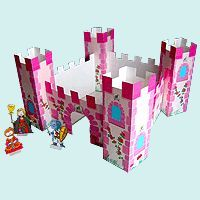Manuel et découpages pour construire un château de princesse pour les petites filles