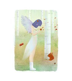 Autumn fairy by Germaine Caillou