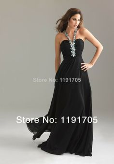 V-neck Beading Sleeveless Floor-length Chiffon Black Prom Dress Long Black Chiffon Bridesmaid Dress, Elegant Black Evening Gowns Black Evening Dresses, Black Prom Dresses, A Line Prom Dresses, Evening Gowns, Bridesmaid Dresses, Formal Dresses, Dress Prom, Dresses 2013, Party Dresses
