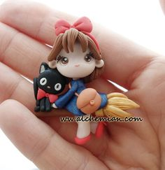 1 Kiki's Delivery Service  chibi necklace made in by AlchemianShop, €30.00