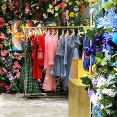 "DOVER STREET MARKET, New York, ""Installation by Molly Goddard in the 4F GARDEN"", pinned by Ton van der Veer"