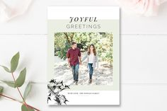 Year in Review 5x7 Photo Card Template, Photoshop Template, Holiday Card, Christmas Photo Card Template, By Stephanie Design