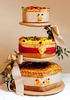 Ginger Pig Pork Pie Wedding Cake! -
