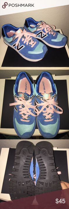 🌺 Final Reduction - New Balance Sneakers 🌺 Blue New Balance 574 sneakers worn a handful of times. Size 7.5 New Balance Shoes Athletic Shoes
