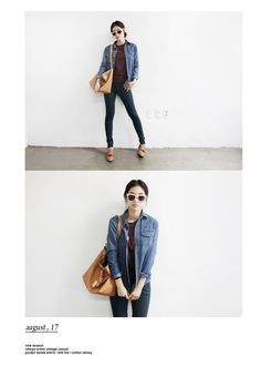 denim + denim + shoes