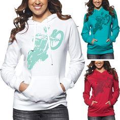 Thor MX Poppa Womens Motocross Pullover Sweatshirt Jacket Hoody