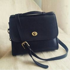 $95 Vintage Classic Coach Court top handle by ThrowbackThriftShop