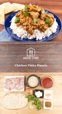 Chicken tikka masala is a meal from the gods: it's creamy, it's rich, it's tangy. We show you how to make it really straightforward – no fuss – so you can quit ordering out. We use succulent chicken thighs, our own seasoning, a touch of ginger, and sour cream to make the sauce thick and creamy. It's paired with basmati rice and garlic roasted naan, and there's really no wrong time to enjoy this Indian classic.