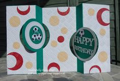 My Paper Corner: Double Circle Flip-It Card with Embedded Embossing...