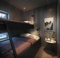 Norway House, Bed Nook, Built In Bunks, Bunk Rooms, Cabin Interiors, Guest Bedrooms, Building A House, House Design, Interior Design