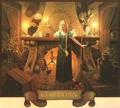 From the 1977 Tolkien calendar - Tom Bombadil & Goldberry's house (by The Brothers Hildebrandt)