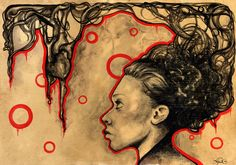 tea watercolor | ... watercolor gouache ink and sometimes bleach and tea all on tea stained