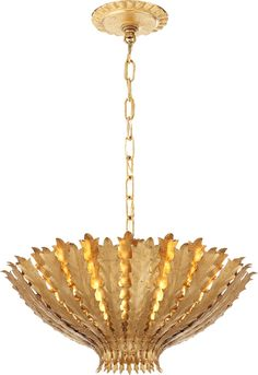 hand stamped metal fronds form bright beautiful lighting in an inspired floral design artisans create the fronds using the highest quality brass sheeting bright special lighting honor dlm