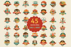World Cities & Places by Oh! Freebie, via Behance