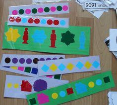 opdrachtkaarten met reeksen neerleggen of na leggen met dezelfde figuurtjes Wall Game, Frame, Projects, Decor, Picture Frame, Log Projects, Blue Prints, Decoration, Decorating