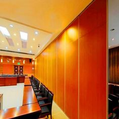 Modern Commercial Furniture Wooden Frame Partition Walls for Meeting Rooms