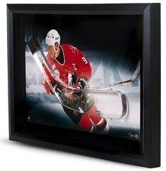 WAYNE GRETZKY Signed Team Canada Stick Blade Break Through Photo UDA - Game Day Legends