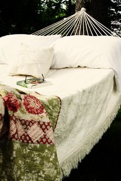 Reading & hammock ~ I've never known any trouble that an hour's reading didn't assuage.  ~Charles de Secondat, Baron de la Brède et de Montesquieu, Pensées Diverses